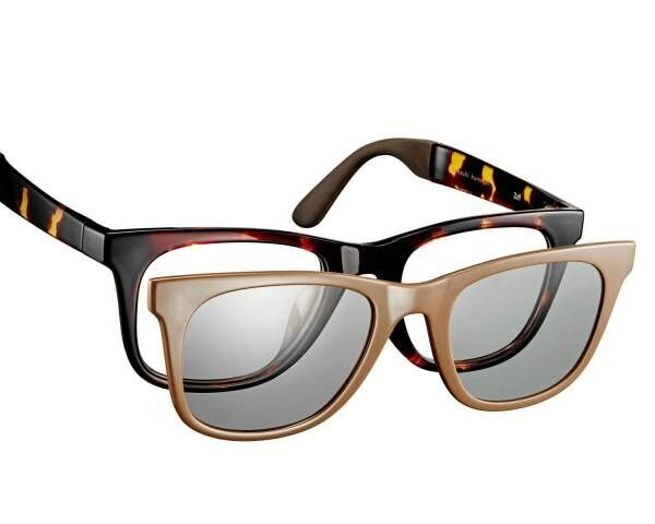 Zoff×熊谷隆志のサングラス - ヴィンテージライクなデザイン、メガネとの2WAYタイプも