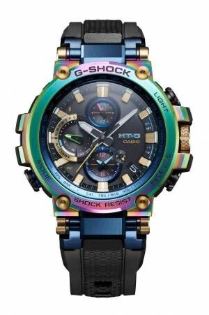 G-SHOCKの腕時計「MT-G」から七色に輝く20周年記念モデル登場