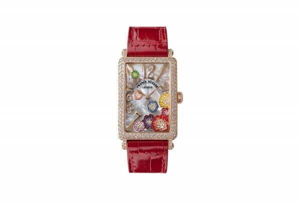 """フランク ミュラー""""牡丹の花×マザー オブ パール""""の新作腕時計、ギンザ シックスで先行販売"""