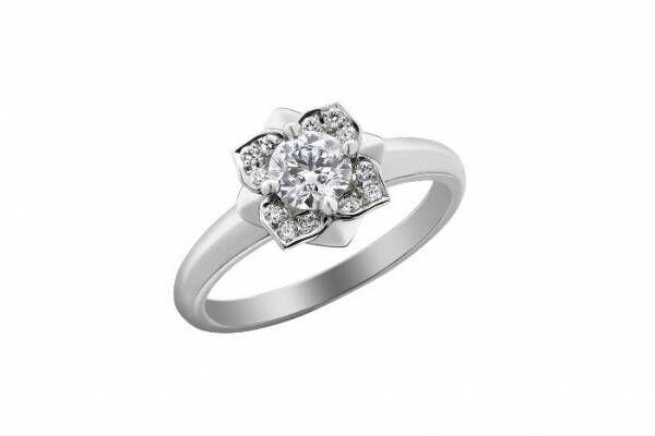 ナチュア & ニコライ バーグマン人気ブライダルリング「チューリップ」や「アジサイ」の婚約・結婚指輪