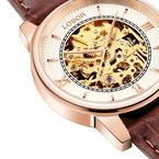 """時計ブランド「ロバー」から""""歯車の動きが見える""""機械式腕時計 - 3色のレザーベルトで付け替えも"""