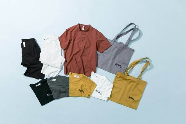 MHL×アーバンリサーチのコラボ、ロゴプリントTシャツやトートバッグ
