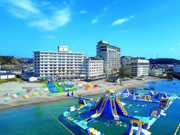 「勝浦ウォーターアイランド」千葉・勝浦中央海水浴場に、日本最大級・全長180m超の巨大アトラクション