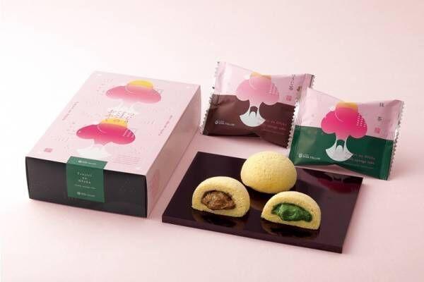祇園辻利の新スイーツ「つじりのおふく」ふんわりケーキに抹茶&ほうじ茶クリームをイン