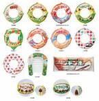 人気菓子がマリングッズに!アポロ&マーブルの浮き輪、チョコモナカジャンボのサーファーマット