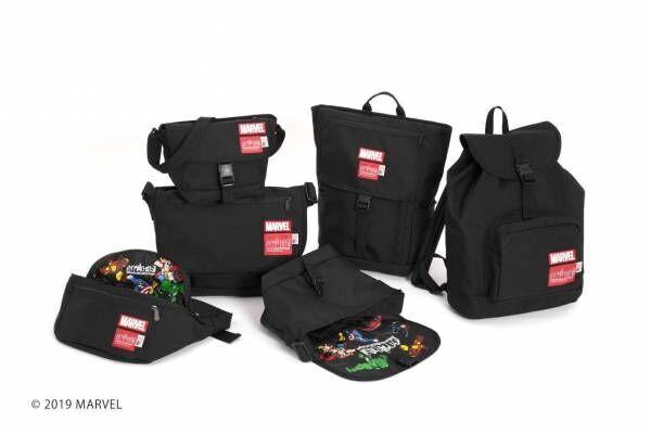 マンハッタン ポーテージから、マーベル「アベンジャーズ」のアイアンマンたち描いたバッグ