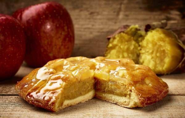 らぽっぽファームの「ポテトアップルパイ」がリニューアル、3種のやきいもペーストでおイモ感アップ