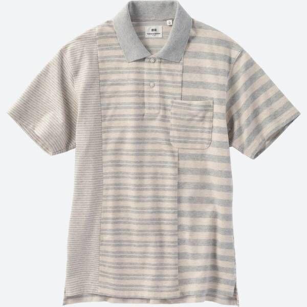 ユニクロとエンジニアド ガーメンツがコラボ、3つの柄やボーダーを組み合わせたメンズポロシャツ