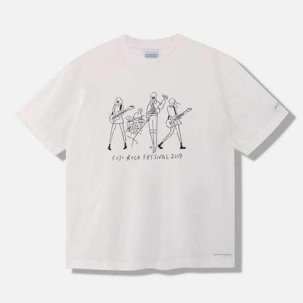 フジロック・フェスティバル×コロンビア×長場雄のコラボTシャツ、吸湿速乾&紫外線カット機能