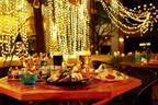 「グランカフェビアガーデン」東京・品川で、夜のテラスで煌めくイルミネーションと楽しむビール&フード