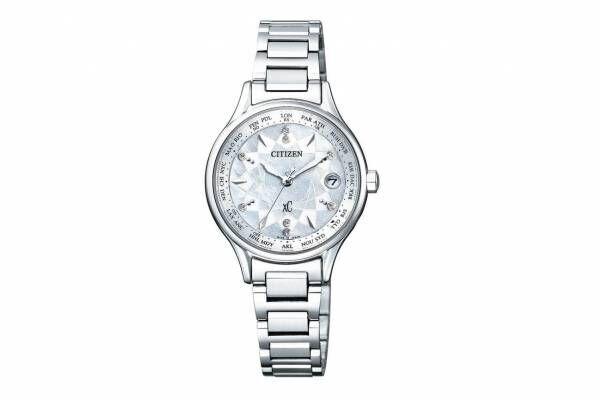シチズンのレディース腕時計「シチズン クロスシー」新作、雫が水面に落ちた時の波紋をモチーフに
