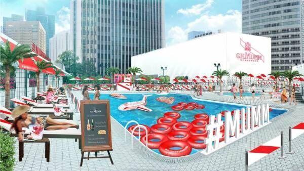 ANAインターコンチネンタルホテル東京の屋外プール、シャンパーニュが楽しめる南仏のラグジュアリー空間