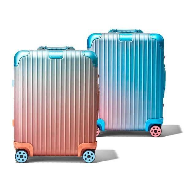 """リモワ""""夕暮れ""""着想のグラデーションカラースーツケース、アレックス・イスラエルとコラボ"""