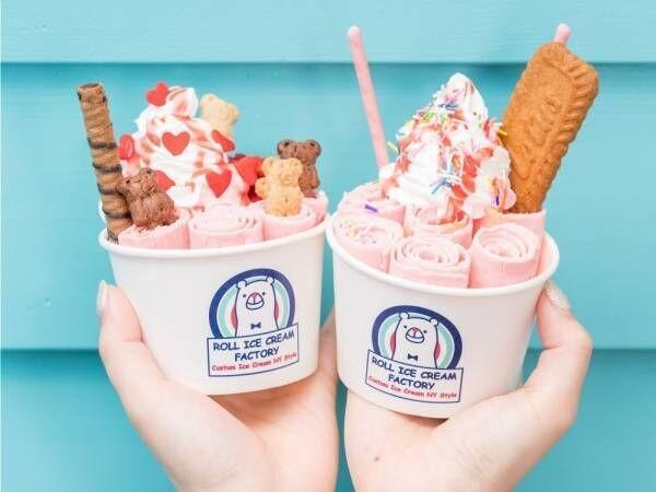 """ロールアイスクリームファクトリー""""全品500円""""のセール全店で、ロールアイスクリームの日認定記念"""