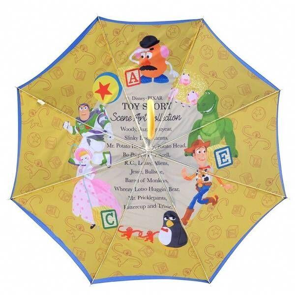 アラジン / トイ・ストーリー / くまのプーさんの傘、開くと内側にディズニーキャラクターが