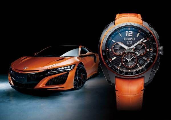 セイコー アストロン×ホンダのスポーツカー「NSX」コラボ腕時計、車体フォルムやホイール着想のケース