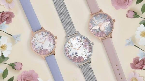 オリビア・バートンの新作腕時計、5月に咲く可憐な花々をデザインした多数のモデル登場