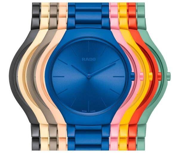 スイス発時計ブランド「ラドー」建築家ル・コルビュジエを称えた新作腕時計、鮮やかな9色で登場