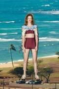 """パメオポーズ新作スイムウェア、""""-3キロ水着""""やセーラー襟付きスイム ドレスから青の陶器柄"""