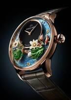 """ジャケ・ドロー「グラン・セコンド」の新モデル&""""蓮の花が咲く""""新作腕時計など、銀座では時計展"""