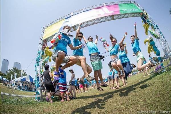 「ウォーターラン」千葉・幕張海浜公園で、水風船10万個&水鉄砲バトルやお笑いライブも