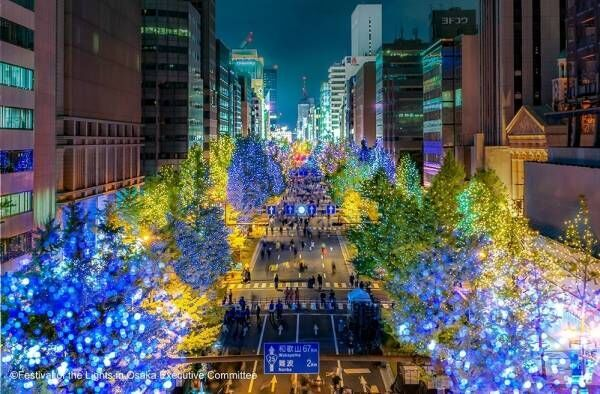 「大阪・光の饗宴2019」梅田~難波周辺がイルミネーションの光に包まれる