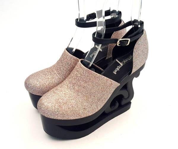ジェフリーキャンベルの「スケート」パンプスにピンクラメの限定グリッターカラー
