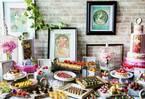 コンラッド東京「みんなのミュシャ」スイーツビュッフェ、作品が着想の色鮮やかなデザート&軽食