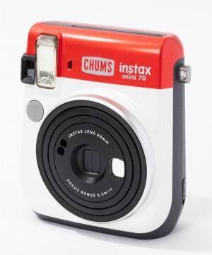 チェキ×チャムス、星条旗カラーのインスタントカメラ「instax mini70」発売