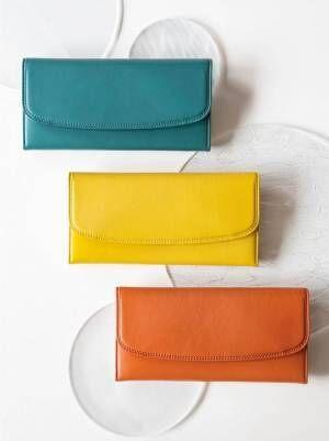 """土屋鞄製造所の新革小物シリーズ「クーシェ」""""自然""""から着想した鮮やかな彩りの財布4型"""