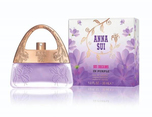 アナ スイ人気香水「スイ ドリームス」にパープルの新作、うっとりさせるフローラル フルーティの香り