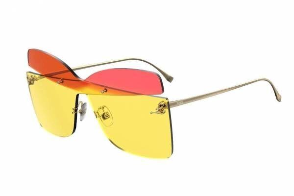 フェンディ新作サングラス「カーリグラフィー」バタフライ型レンズにFFロゴを飾って