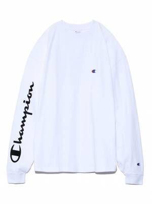 フレイ アイディー×チャンピオンのTシャツ&ワンピース、袖や背面にロゴを配して