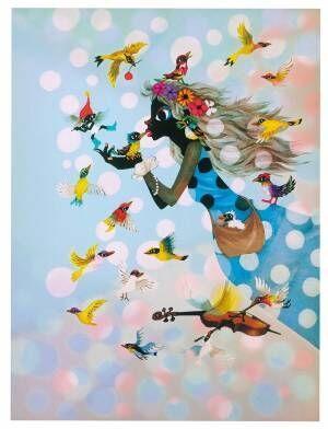 影絵作家・藤城清治の展覧会が大丸梅田店で、光と影を使った新作版画や名作を展示販売