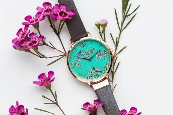 イギリス発「サラミラーロンドン」の腕時計が日本初上陸、花や鳥を描いた色鮮やかな文字盤