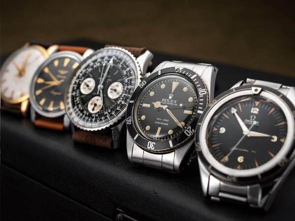 アンティーク時計の国内最大規模イベントが銀座で、70's以前のロレックスやオメガの腕時計販売