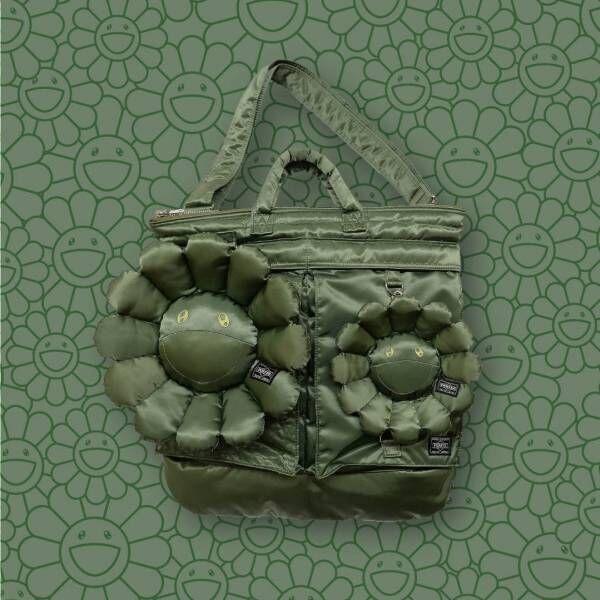 """村上隆×ポーター""""お花""""を配したリュックやウエストバッグ、ポップなぬいぐるみや刺繍をバッグに"""