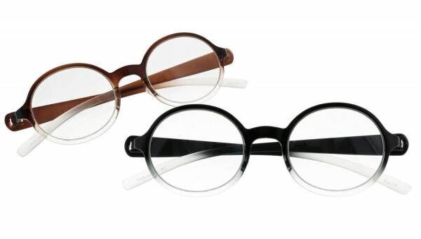 デザインオフィスnendoの新作PCメガネ、胸ポケットに収まるスリム構造×グラデーションカラー