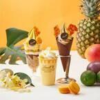 リンツ、甘酸っぱいトロピカルフルーツ×濃厚ホワイトチョコのソフトクリームやアイスドリンク発売