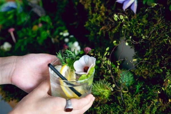 """""""その場で摘める""""ハーブ×冷茶でノンアルカクテルを作れる「飲む植物園@東京茶寮」三軒茶屋で"""