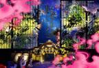 """京都「二条城夏季ライトアップ」妖怪プロジェクションマッピングや七夕の""""天の川×友禅""""展示"""