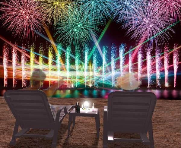 花火を見ながらビーチでテント泊「ビーチキャンプ」大阪で、BBQやマリンアクティビティも
