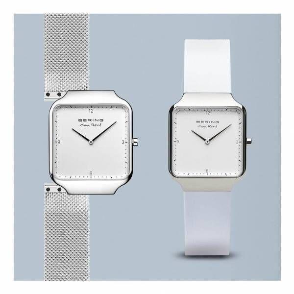 """ベーリング×マックス・レネ""""スクエア型""""新作ウォッチ、スライドでストラップ交換できる腕時計"""