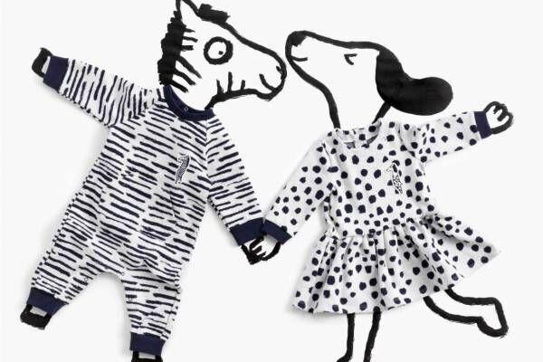"""プチバトー""""猫・犬・シマウマ""""を表現した縞模様やドット柄ウェア、ジャン・ジュリアンとコラボ"""