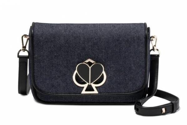 ケイト・スペード初の日本限定バッグ「ニコラ デニム」スペードからハートに変わるクロージャ―