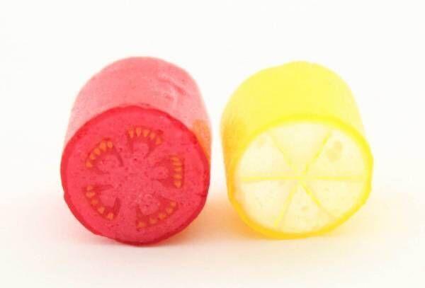 """パパブブレ初の野菜フレーバー「塩トマト」が塩キャンディに、断面を描いた""""塩レモン""""も"""