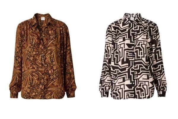 H&M×英ブランド「リチャード・アラン」人気スカーフのプリント入り60'sライクなドレスやシャツ
