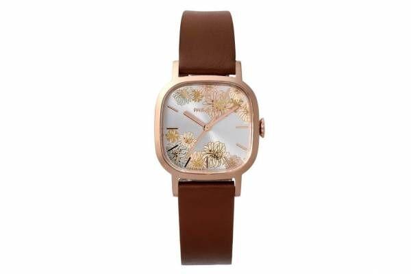 ポール & ジョーの新作ウォッチ「クリザンテーム」スクウェアケース×花柄のエレガントな腕時計