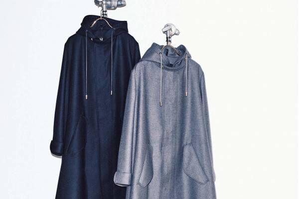 ユナイテッドアローズ別注ザ・リラクスのモッズコート、ベルトレス&短めの着丈でアレンジ