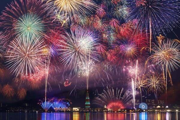 長崎・ハウステンボス「第7回九州一花火大会」西日本最大級の2.2万発、5千発連続打ち上げ花火も